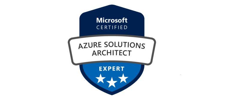 Escudo de la certificación Azure Solutions Architect Expert